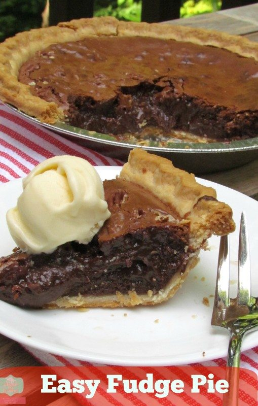 Mouth Watering and Super Easy Fudge Pie Recipe - Close To Home