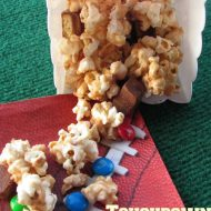 Celebrate Football Season with Candy Bar Popcorn Bar