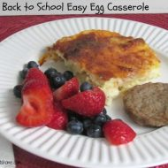 Cheesy Overnight Egg Casserole For Back to School Meals