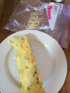 omelette in bags
