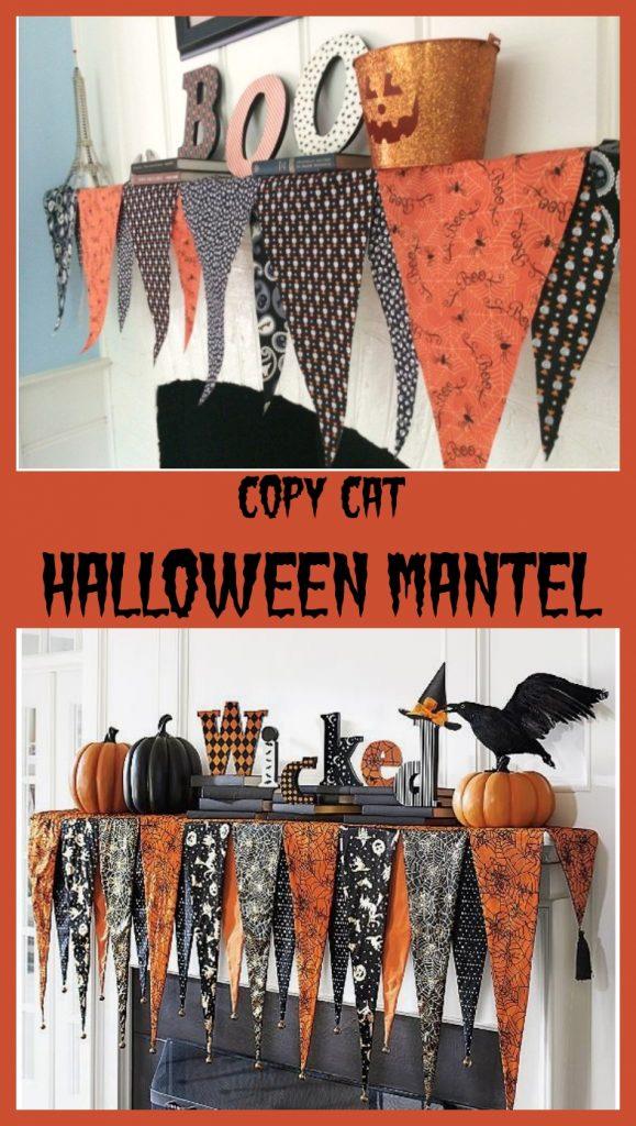 copycat Halloween Mantel