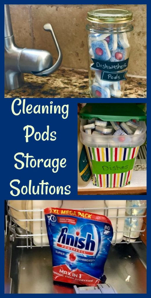 dishwasher pods storage solutions