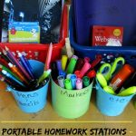 DIY Portable Homework Stations