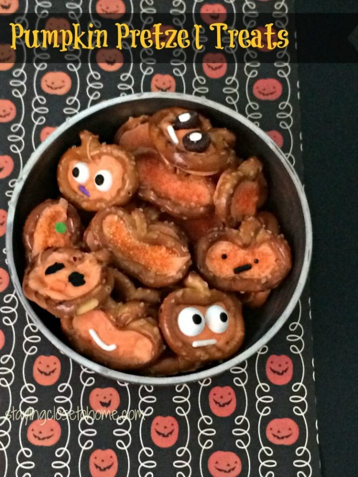Fun and Delcious Halloween Treats:  Pumpkin Pretzels