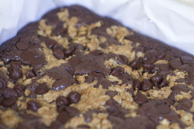 Peanut Butter Crumble Brownie