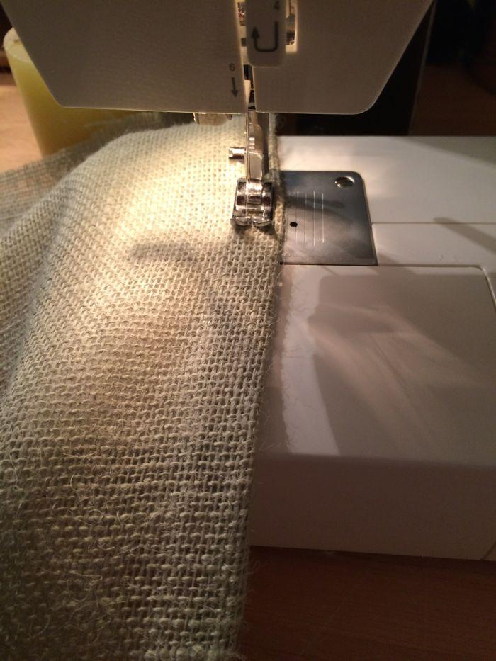 how to sew burlap