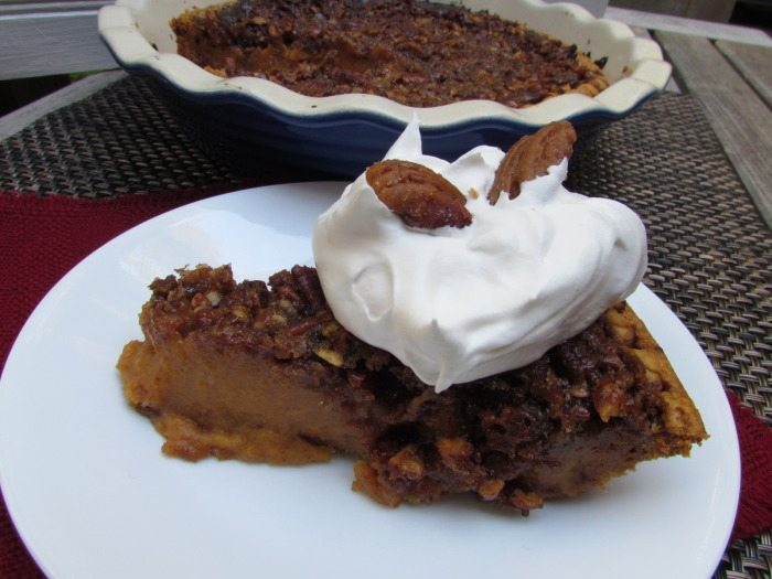candied pecan pumpkin pie