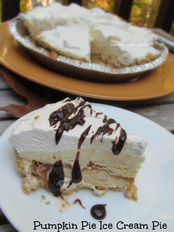 frozen pumpkin pie ice cream cake