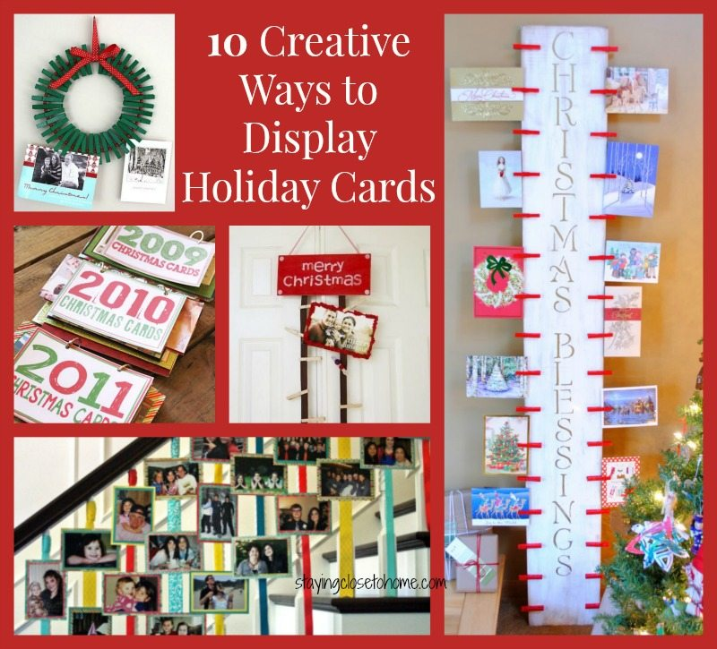 How to Display Christmas Cards Ideas