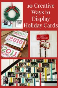 how to display christmas cards pin