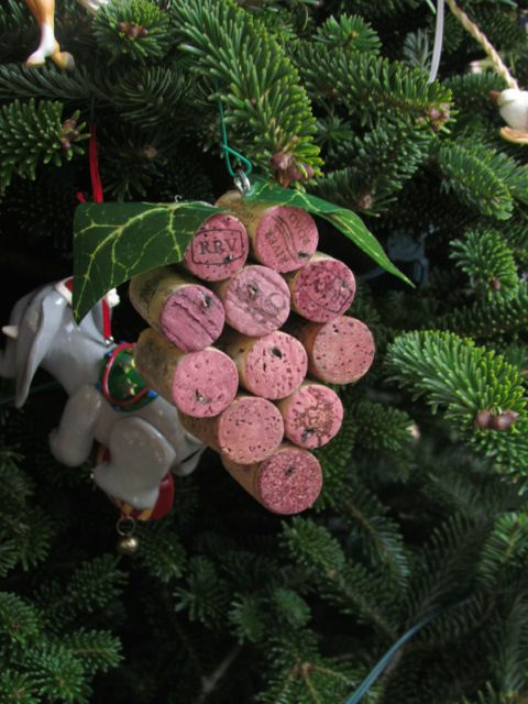 cork ornament 15 Christmas Crafts For Kids (Homemade Christmas Ornaments)