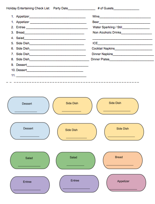 party planning printable
