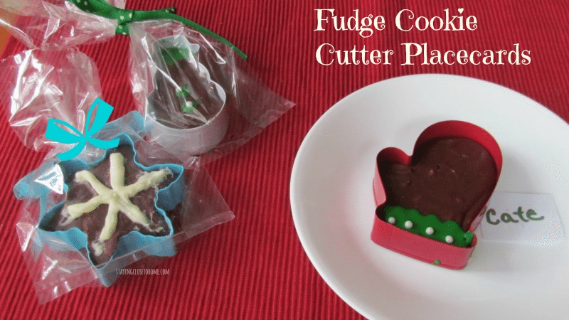 Holiday Recipes: Easy Fudge in Cookie Cutter Place Cards