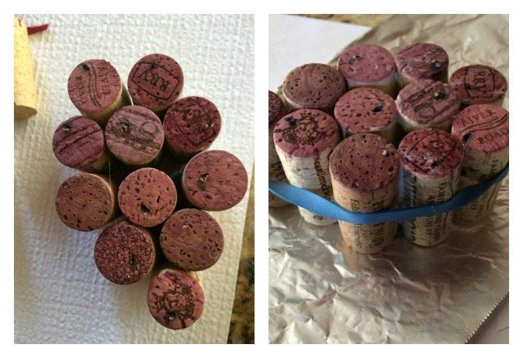 grape wine cork ornament
