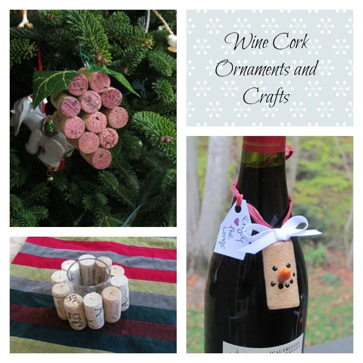 Holiday Wine Cork Crafts and Wine Cork Ornaments