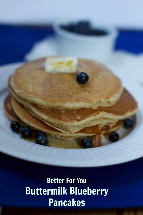 Better For You Blueberry Buttermilk Pancakes