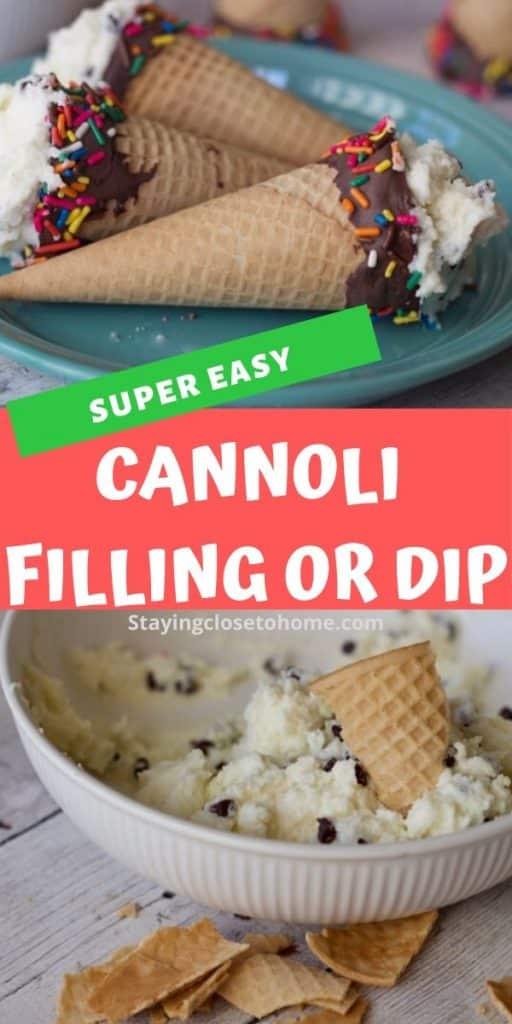 easy cannolis recipe or dip recipe