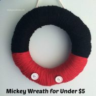Mickey Mouse Wreath for under $5  #DisneySide