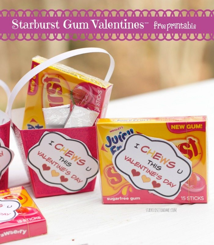 FREE Valentine Printable for Bubble Gum Valentines