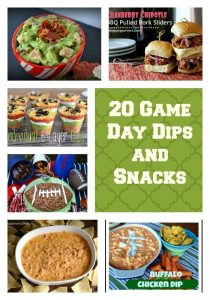 20 Game Day Dips and Snacks