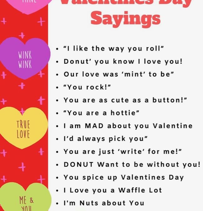 Cute Valentine Sayings And Gifts To Go With Them