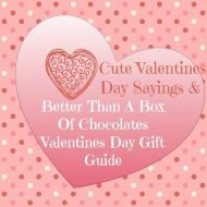 Cute Valentine Sayings & Better than a Box of Chocolate Valentines Day Gift Guide