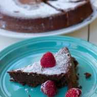Flourless Chocolate Cake Recipe : made with beans instead of flour
