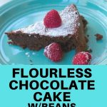 FLourless chocolate cake with beans