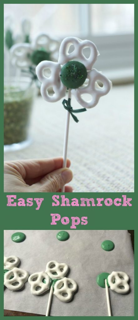 St Patricks Day Easy Shamrock Pops