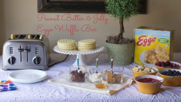Peanut Butter & Jelly Eggo Waffle Bar