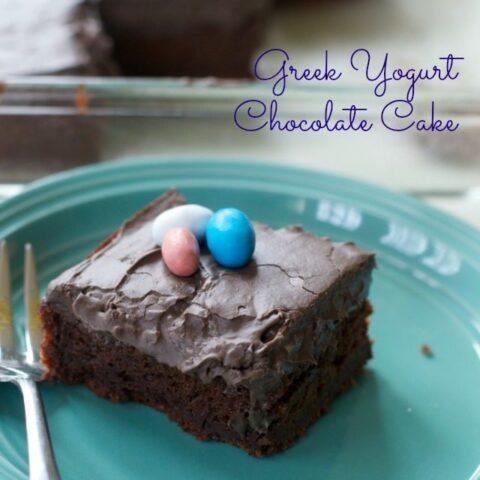 Greek Yogurt Chocolate Cake with Chocolate Cream Cheese Frosting