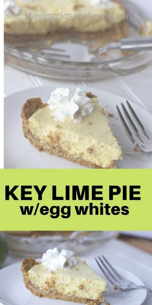 key lime pie with egg whites