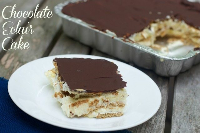 chocolate eclair cake Make Ahead Meal Plan for Overnight House Guests
