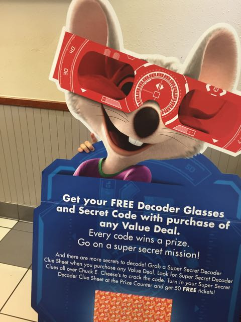 A newly redesigned Chuck E. Cheese, which the company said features neutral tones and streamlined graphics.