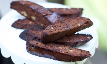 Homemade Chocolate Brownie Biscotti