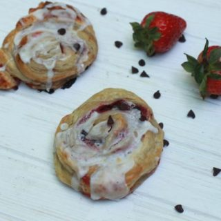 Chocolate Strawberry Sweet Rolls