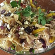 Easy Pasta Salad:  Grilled Chicken and Greek Pasta Salad