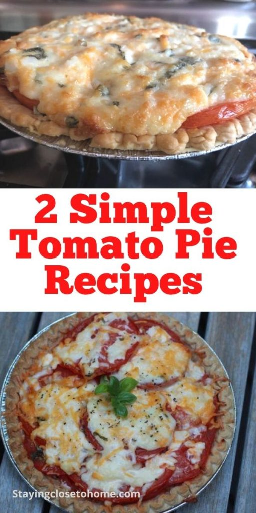 simple tomato pie recipes