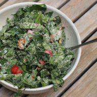 Strawberry Walnut Kale Salad Recipe