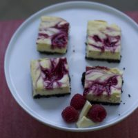 Raspberry White Chocolate Cheesecake Bars