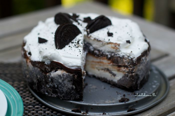 Oreo Ice Cream Cake is a great choice for a weekend barbecue, special treat, or even a summer birthday party!  Make this delicious and beautiful dessert now!