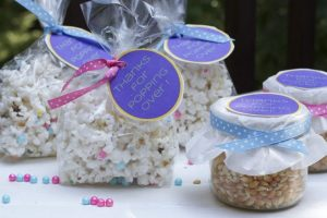 baby shower ideas popcorn party favor