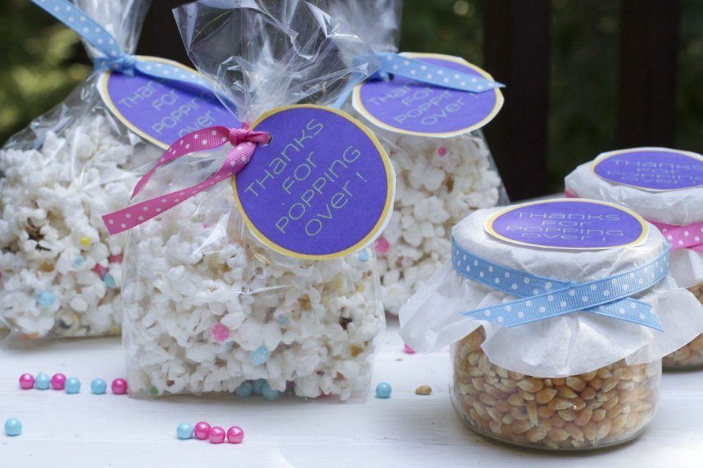 Baby shower giveaway gift ideas wblqual baby shower party favor ideas for a baby sprinkle close to home baby shower negle Images