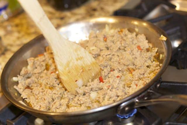 how to cook ground turkey sausage