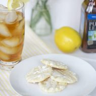 Arnold Palmer Cookies: Lemon Cookies with Iced Tea Drizzle