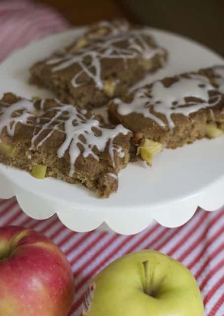 apple butter bars cut
