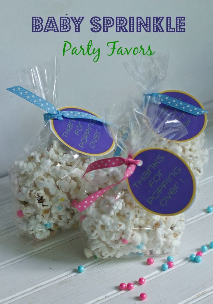 baby shower party favors like these for a baby sprinkle are easy to
