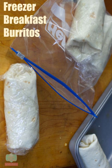 breakfast burritos for the freezer Freezer Food: Breakfast Burritos