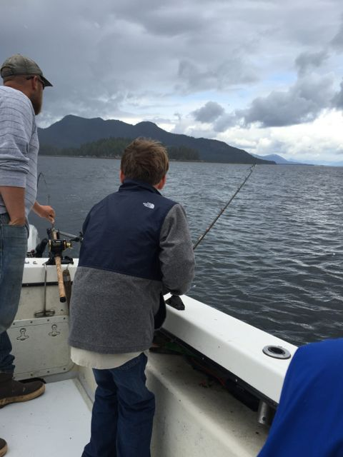 fishing for salmon in Ketichan Alaska