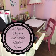 5 Organizing Tips for a Middle Schooler
